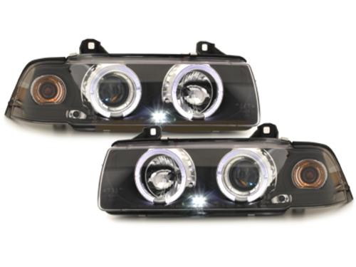 faros BMW E36 Lim. 7.92-3.98_2 anillos luz de posición_negro