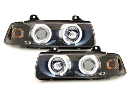 faros BMW E36 Lim. 7.92-3.98_2 anillos luz de posición CCFL_negro