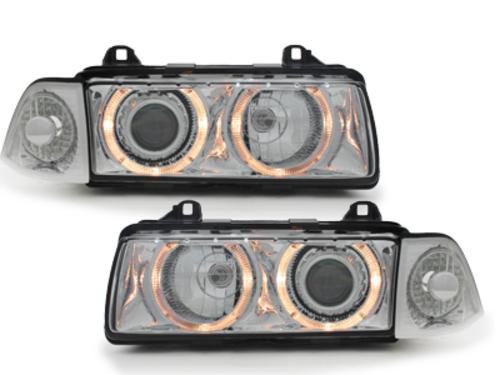 faros BMW E36 Lim. 92-98_2 anillos luz de posición_cromado