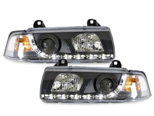 faros DECTANE BMW E36 Lim. 92-98_óptica de luz diurna_negro