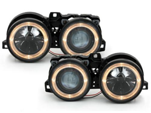 faros BMW E30 09.87-10.90_2 anillos luz de posición_negro