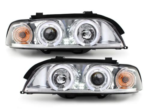 faros BMW E39 5er 95-00_2 anillos luz de posición_cromado