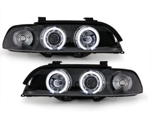 faros BMW E39 5er 95-00_2 anillos luz de posición CCFL_negro