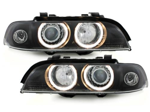 faros BMW E39 5er 95-00_2 anillos luz de posición_negro