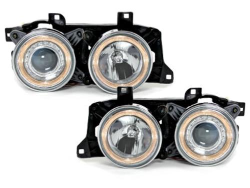 faros BMW E32/34 5/7er 88-92_2 anillos luz de posición_croma