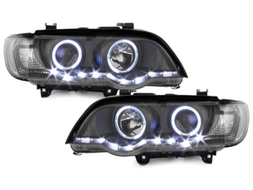 faros DECTANE BMW X5 99-03 E53_2 anillos luz de posición_neg