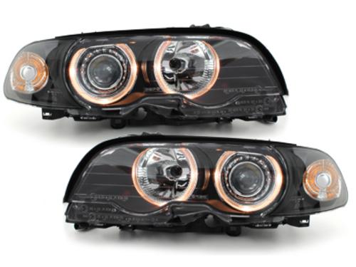 faros BMW E46 Coupé 98-02_2 anillos luz de posición_negro