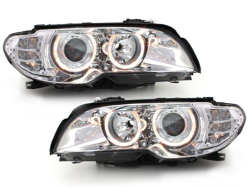faros BMW E46 2p 03-06_2 anillos luz de posición_cromado