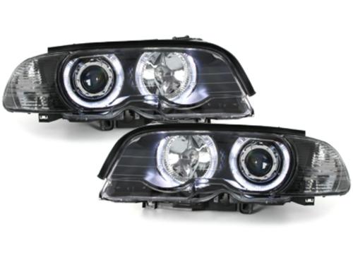 faros BMW E46 Coupé 98-01_2 anillos luz de posición_negro