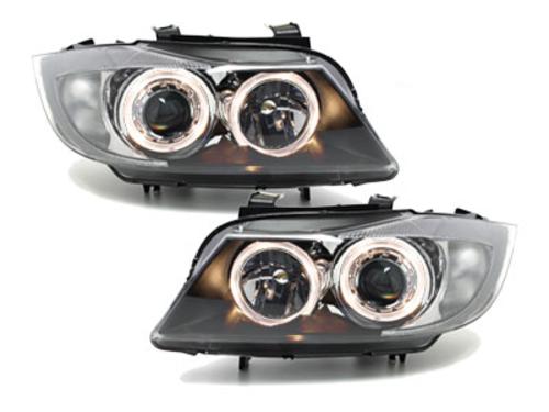 faros BMW E90_2 anillos luz de posición_negro