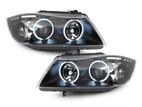 faros BMW E90_2 anillos luz de posición CCFL_negro