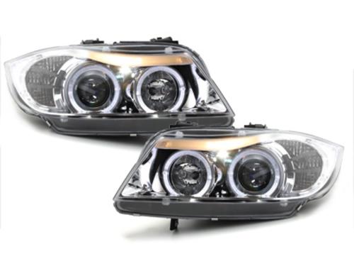 faros BMW E90/E91 3er_2 anillos luz de posición_cromado