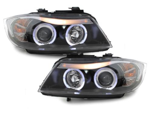 faros BMW E90/E91 3er_2 anillos luz de posición_negro