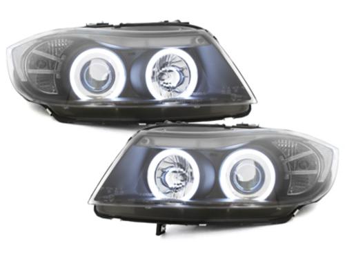 faros BMW E90/E91 3er_2 anillos luz de posición CCFL_negro