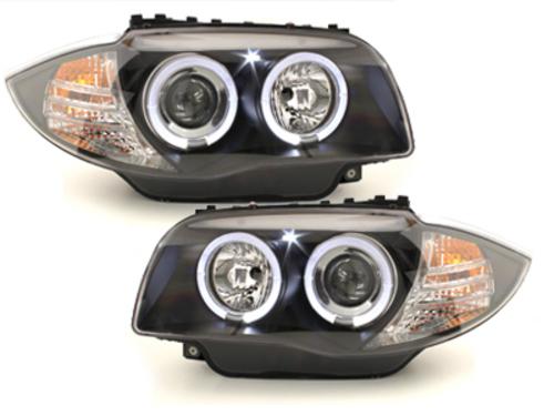 faros BMW 1er E87/81 04-09_2 anillos luz de posición_negro