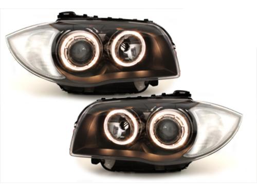 faros BMW 1er E87 04-07_2 anillos luz de posición_negro