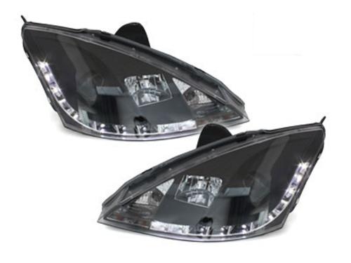 faros DECTANE Ford Focus 98-01_óptica de luz diurna_negro