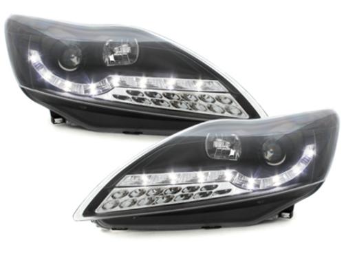 faros DECTANE Ford Focus 08-11_óptica de luz diurna LED_negr