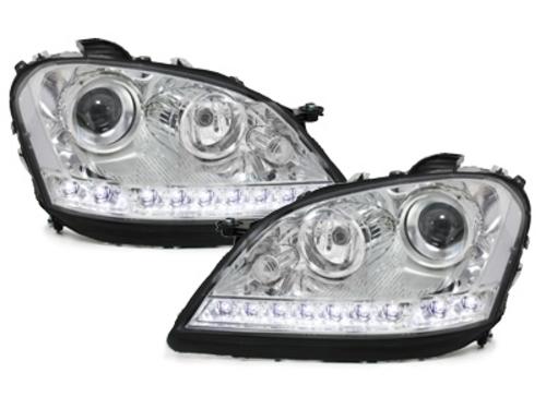 faros en la óptica de luz diurna DECTANE Mercedes Benz W164 M 05-08_cromado