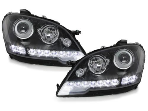 faros en la óptica de luz diurna DECTANE Mercedes Benz W164 M 08+_negro
