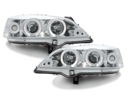 faros Opel Astra G 98-04_2 anillos luz de posición_cromado