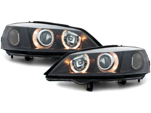 faros Opel Astra G 98-04_2 anillos luz de posición_negro