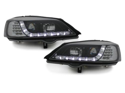 faros DAYLINE Opel Astra G 98-04_óptica de luz diurna_negro