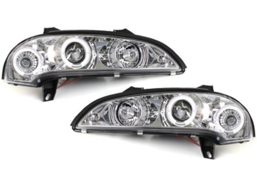 faros Opel Tigra 94-00_2 anillos luz de posición_cromado