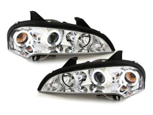 faros Opel Tigra 94-00_2 anillos luz de posición CCFL_cromado