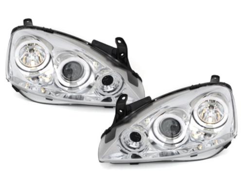 faros Opel Corsa C 01-06_2 anillos luz de posición_cromado