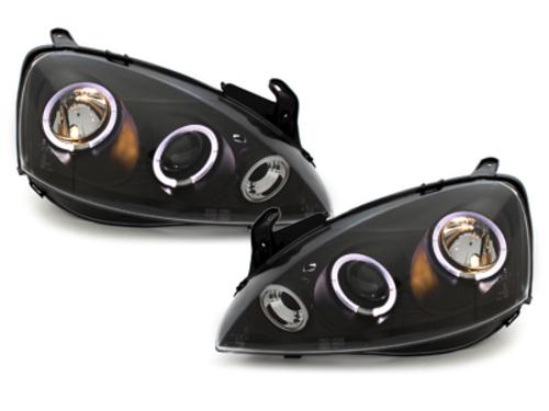 faros Opel Corsa C 01-06_2 anillos luz de posición_negro