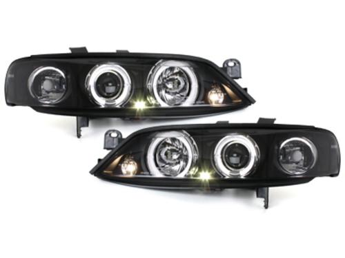 faros Opel Vectra B 96-99_2 anillos luz de posición_negro
