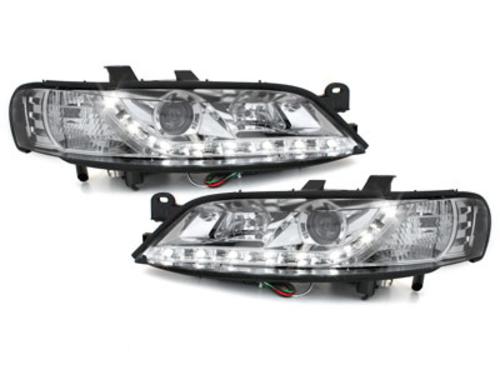 faros DECTANE Opel Vectra B 99-02_luz diurna_cromado