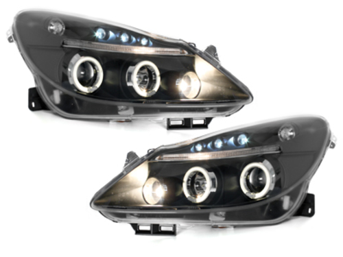 faros Opel Corsa D 06+_2 anillos luz de posición_negro