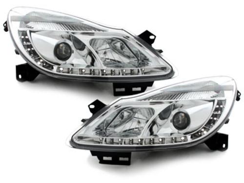 faros DECTANE Opel Corsa D 06+_óptica de luz diurna_cromado