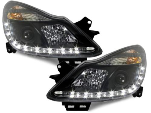 faros DECTANE Opel Corsa D 06+_óptica de luz diurna_negro