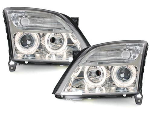 faros Opel Vectra C 02-08/05_2 anillos luz de posición_cromado