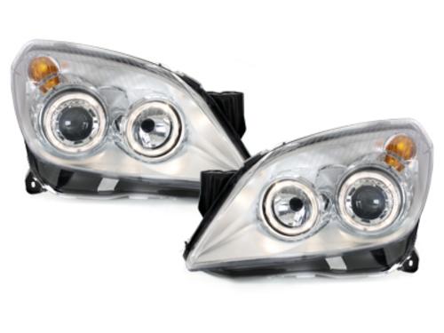 faros Opel Astra H_04-09_2 anillos luz de posición_cromado