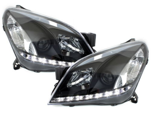 faros DECTANE Opel Astra H 04-09_óptica de luz diurna_negro