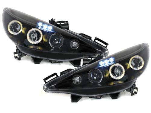 faros Peugeot 207 06-10_2 anillos luz de posición_negro