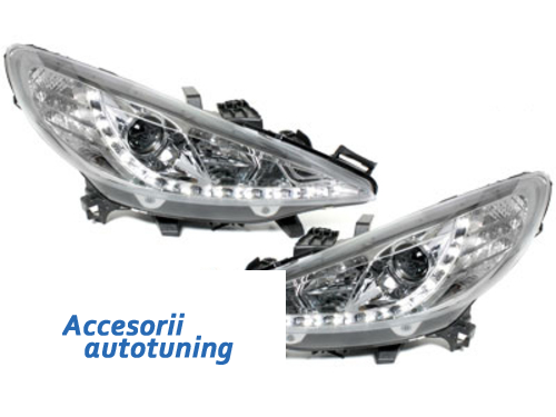 faros DECTANE Peugeot 207 06-10_luz diurna_cromado