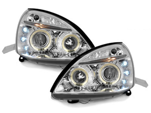 faros Renault Clio MK3 01-05_2 anillos luz de posición_cromado