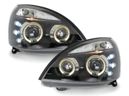 faros Renault Clio MK3 01-05_2 anillos luz de posición_negro