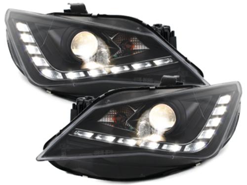"""**Dectane faros LED con luz diurna Seat Ibiza 6J 12+_\FR\""""diseno_negro"""""""