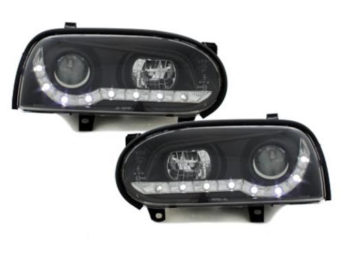 faros DECTANE VW Golf III 92-98_óptica de luz diurna_negro