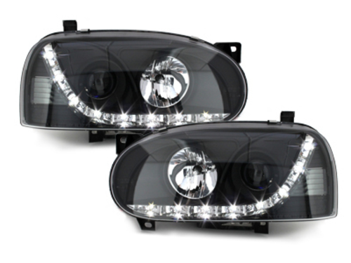 faros DECTANE VW Golf III 92-97 luz diurna_negro