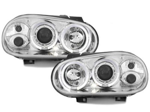 faros VW Golf IV 97-04_2 anillos luz de posición_cromado