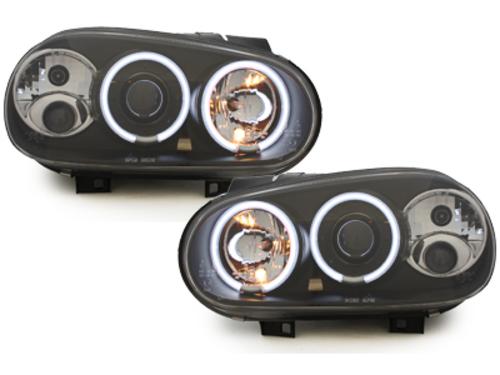 faros VW Golf IV 97-04_2 anillos luz de posición CCFL_negro