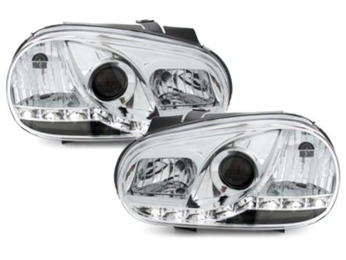 faros DECTANE VW Golf IV 98-02 luz diurna_cromado