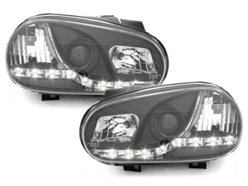 faros DECTANE VW Golf IV 98-02 luz diurna_negro